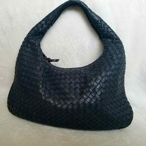 Bottega Veneta Medium Intrecciato Hobo Bag, Blue